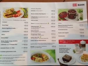 Angebotskarte der DB Bahn